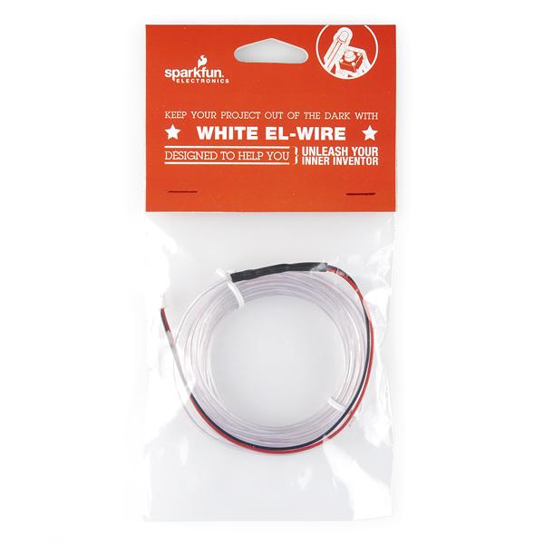 EL Wire - White Retail - RoboDyne