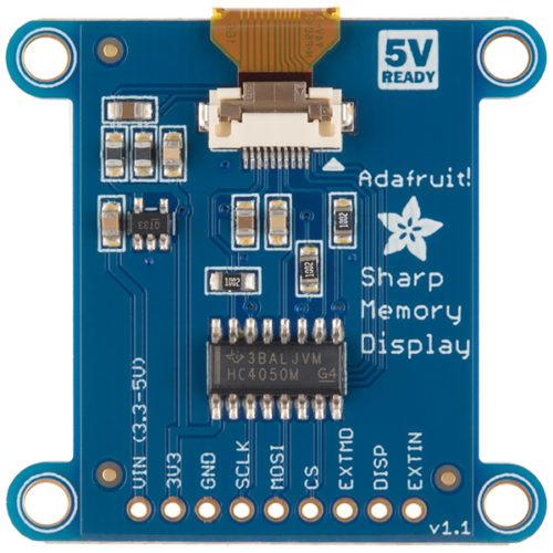 "SHARP Memory Display Breakout - Silver Monochrome (1.3"""
